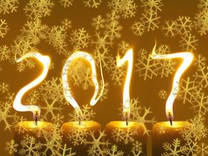 Šťastný rok 2017 - novoročenka