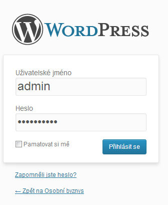 wordpress-administrace