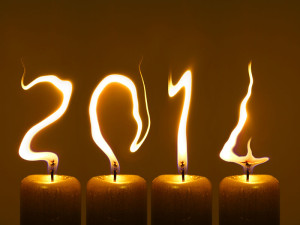 Happy New Year 2014 image for download - candles