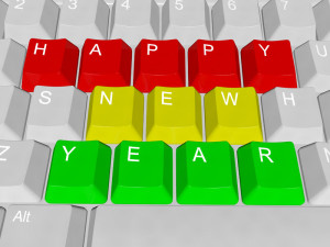 Happy New Year - pc keys picture