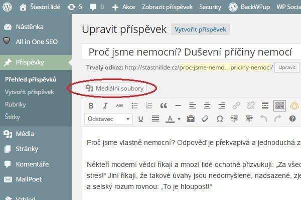 WordPress - mediálni soubory